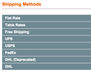 Shipping Methods